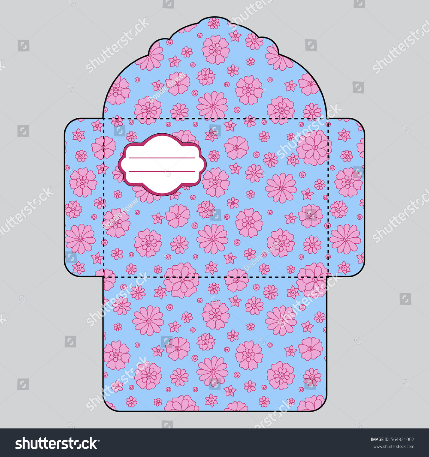 Drawing Greeting Envelopes Weddings Celebrations Office Stock Vector