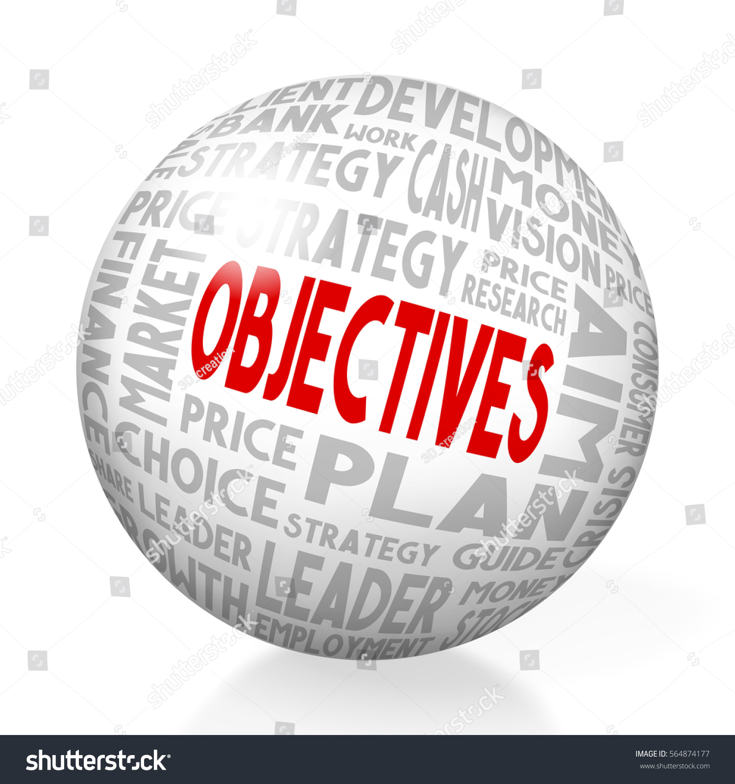Pricing Objectives: 3d Illustration 3d Rendering Objectives Concept Stock