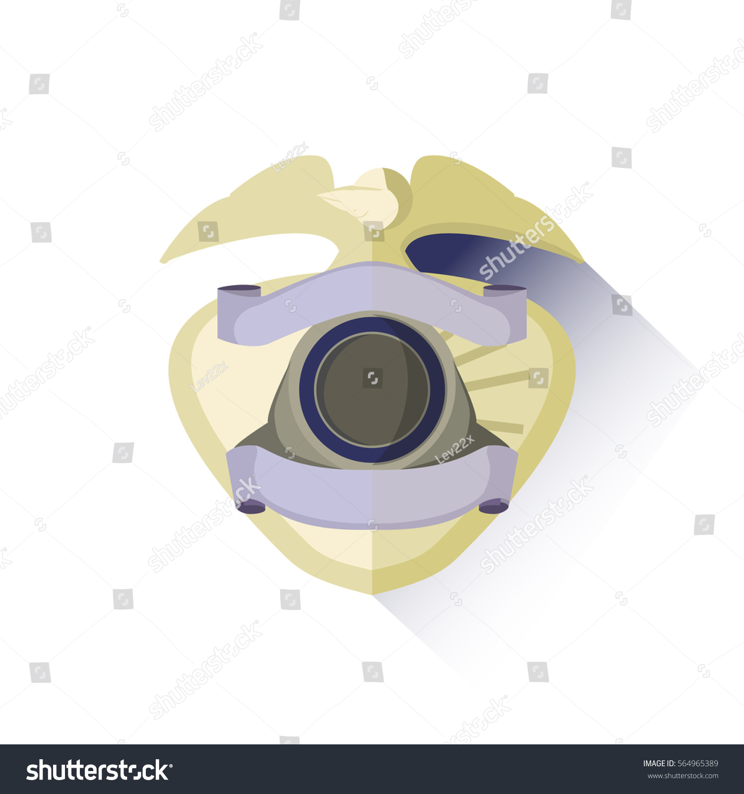 Cop Eaglesign Symbol Badge Vintage Force Stock Vector Royalty Free