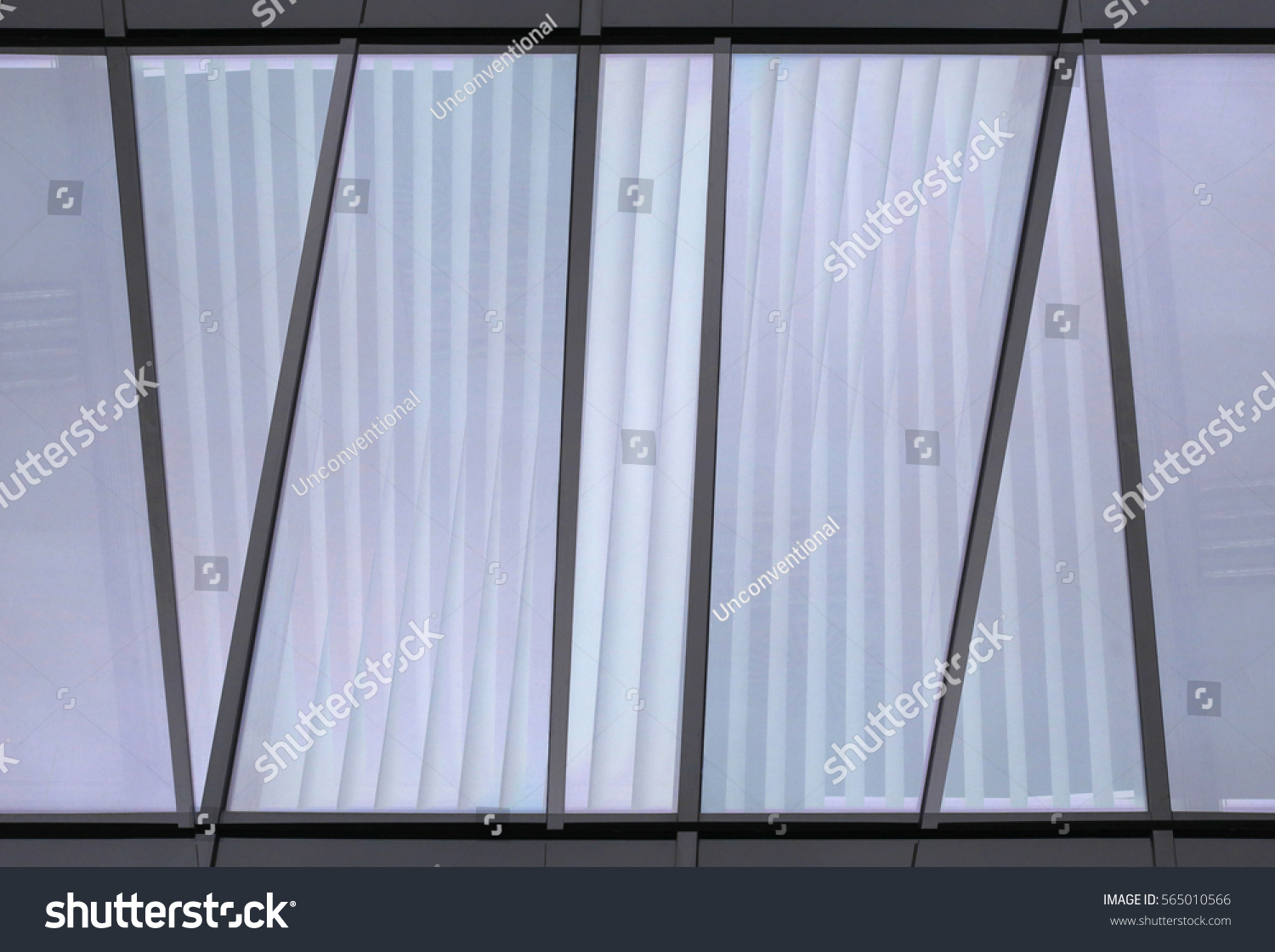 Jalousien Modern window glass wall jalousie blinds stock photo royalty free