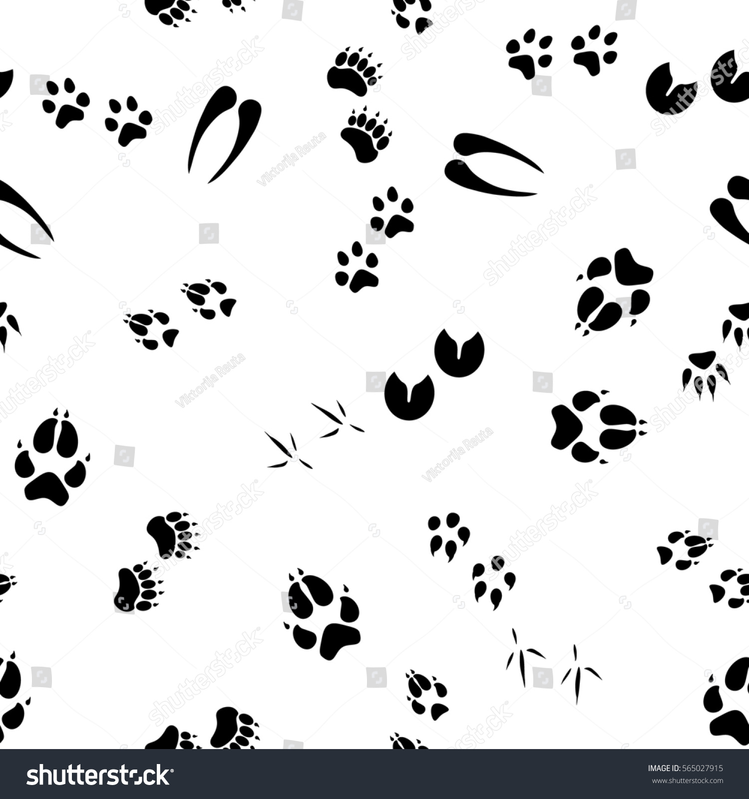 Raster Illustration Pattern Background Footsteps Footprint Stock