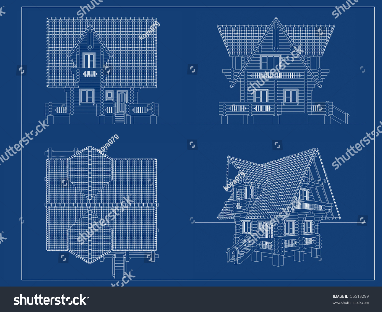 Log House Blueprint