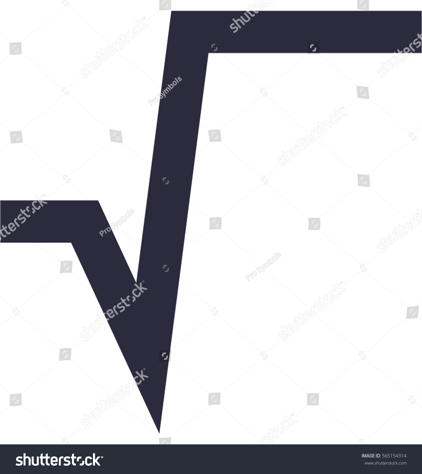 Square Root Vector Icon Stock Vector Royalty Free 565154314