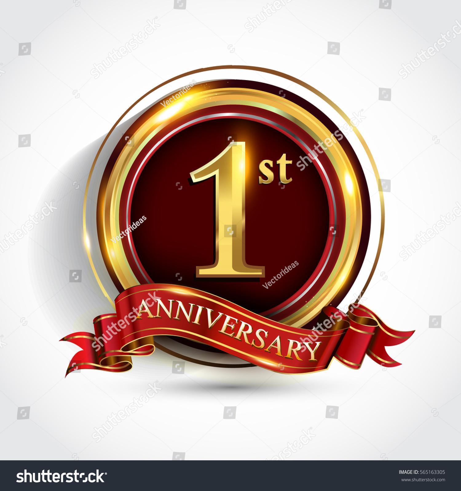 Celebrating st golden anniversary one year stock vector