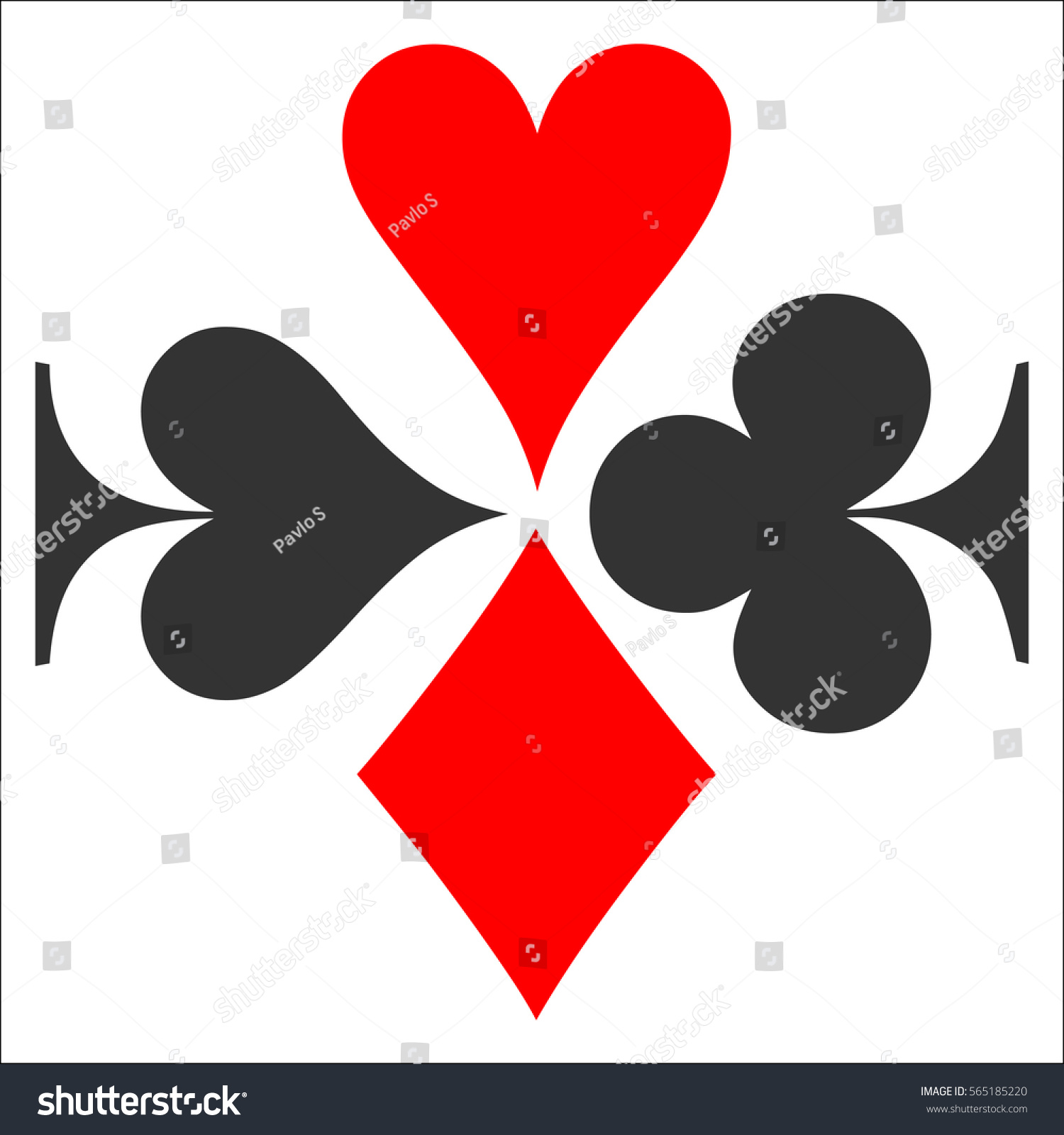 Colored card suit icon vector playing stock vector 565185220 colored card suit icon vector playing cards symbols vector set icon symbol suit biocorpaavc