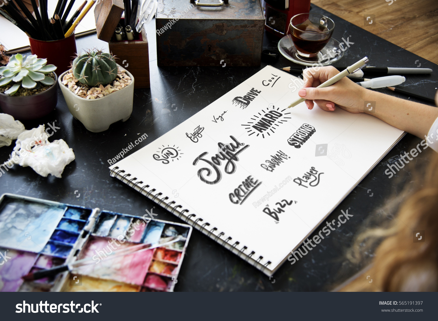 Calligraphy Design Typography Workplace #565191397