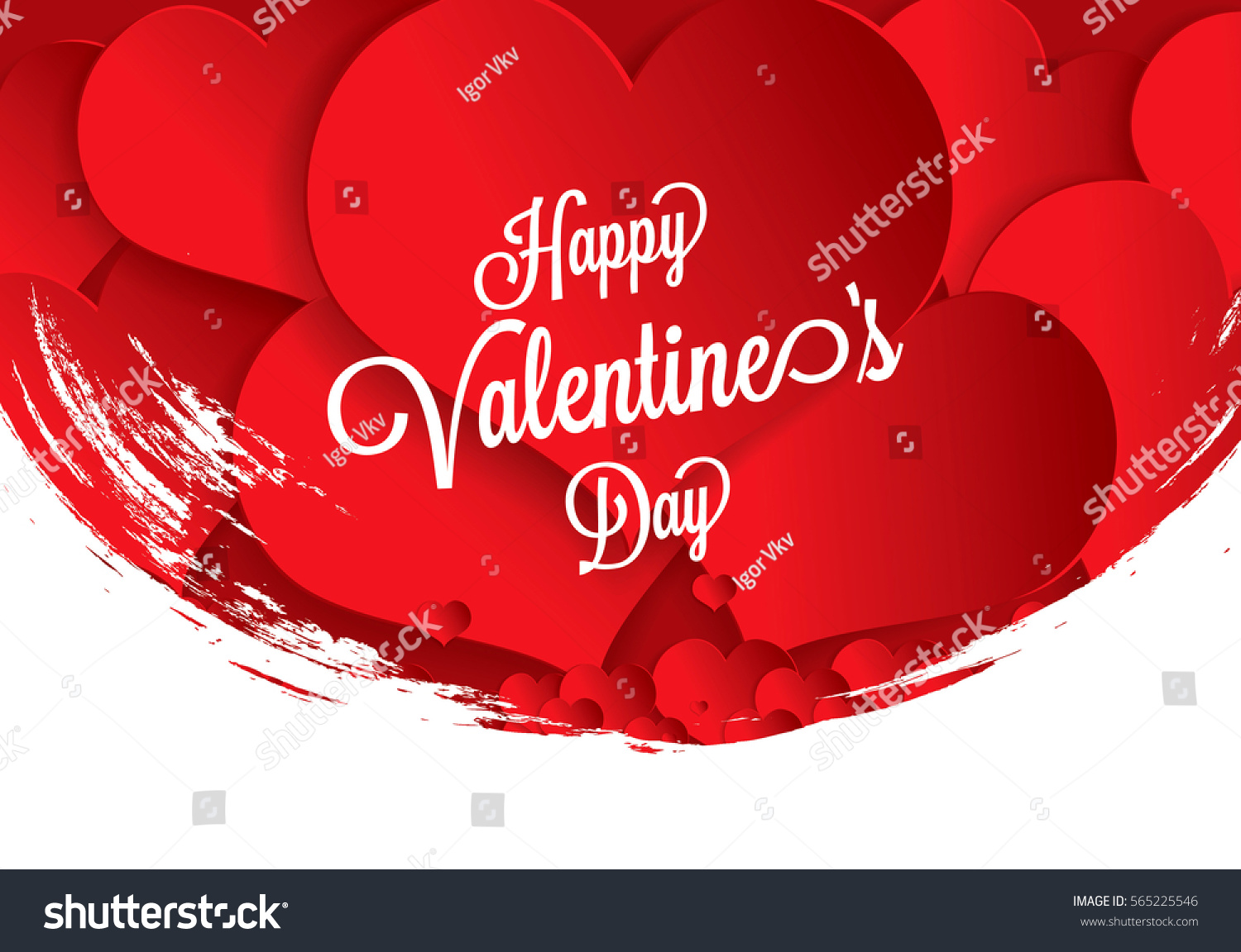 Valentines Greeting Card Happy Valentines Day Stock Vector Royalty