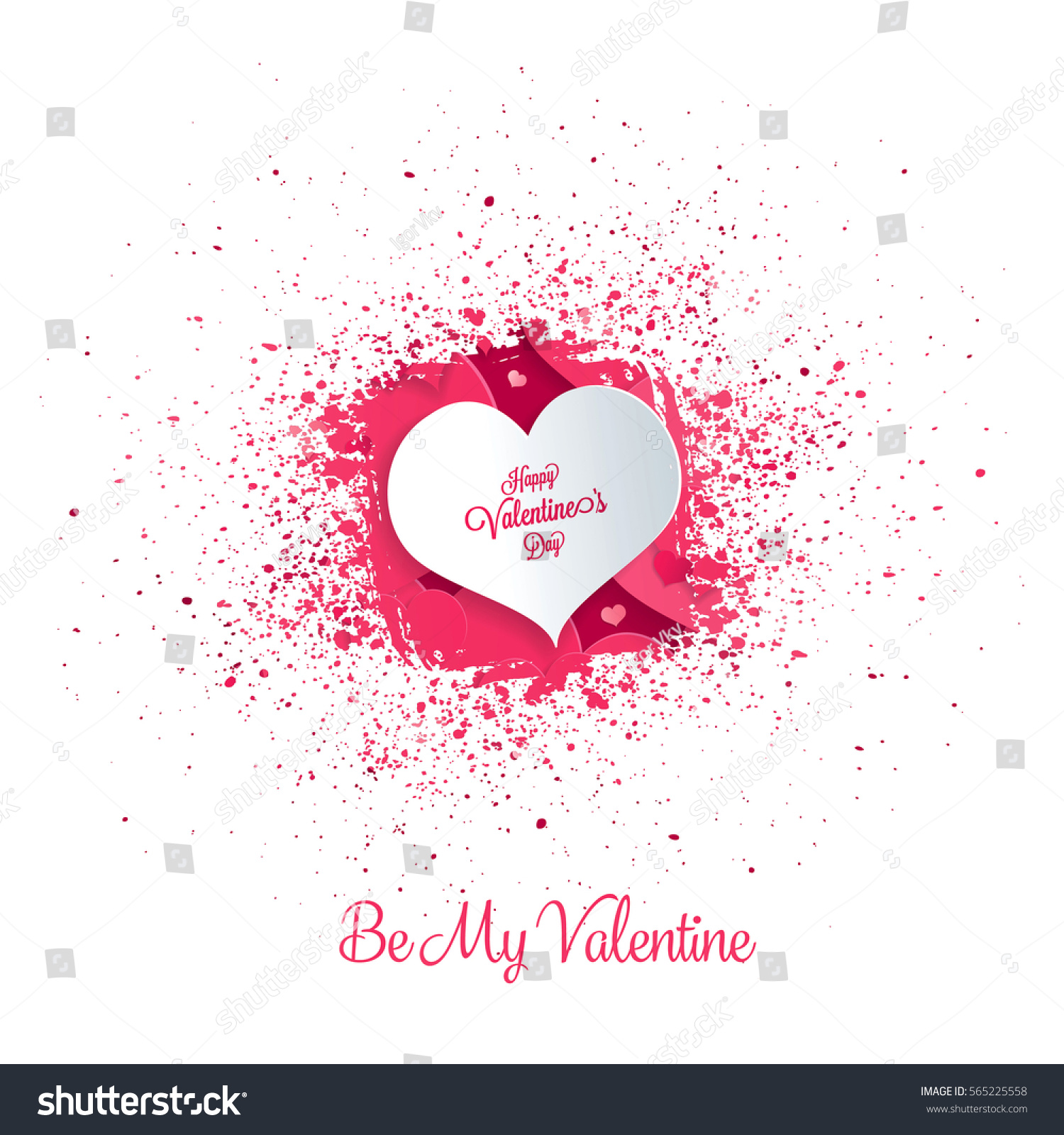 Valentines Greeting Card Happy Valentines Day Stock Vector 565225558