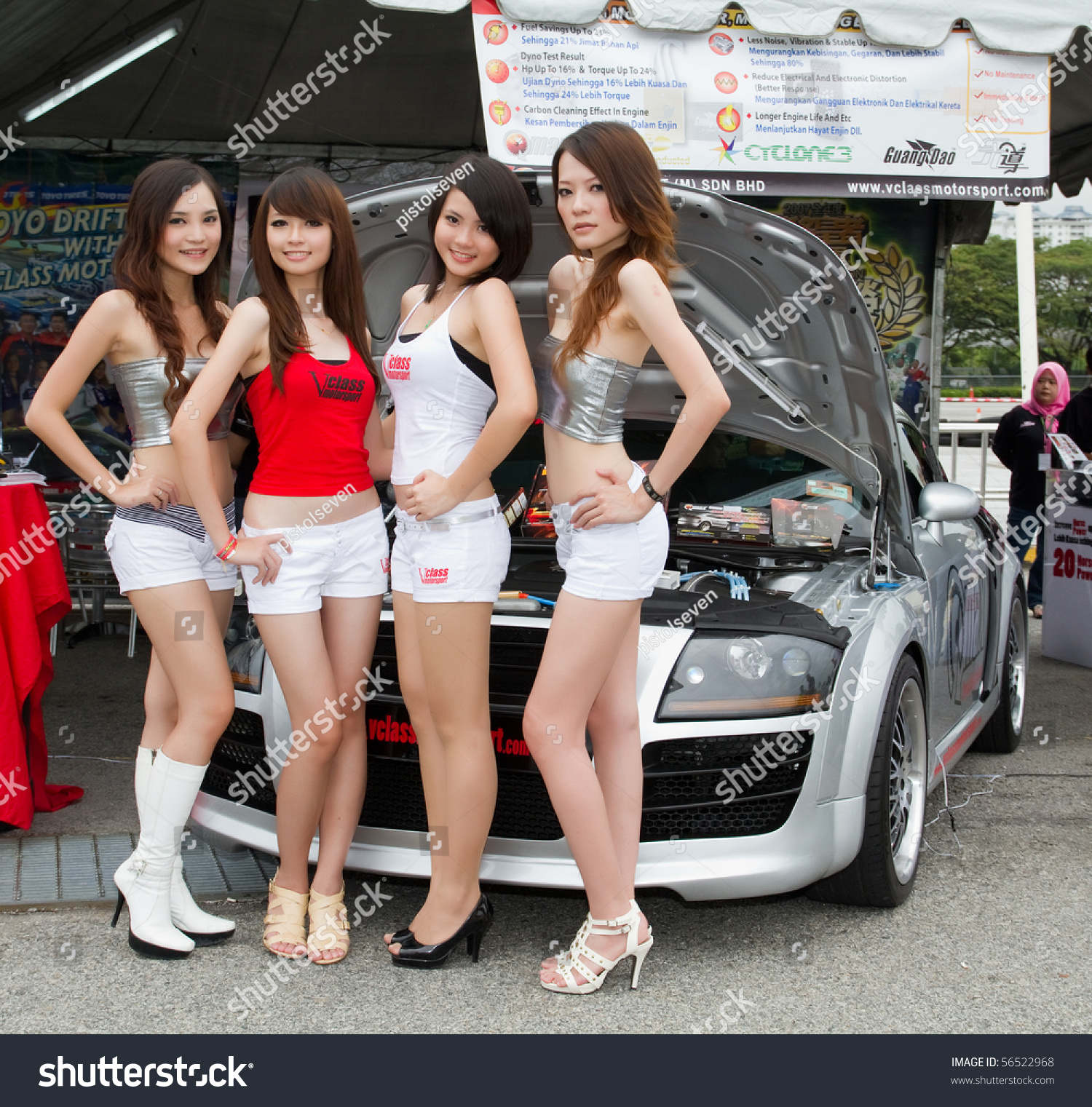Something also asian car show models