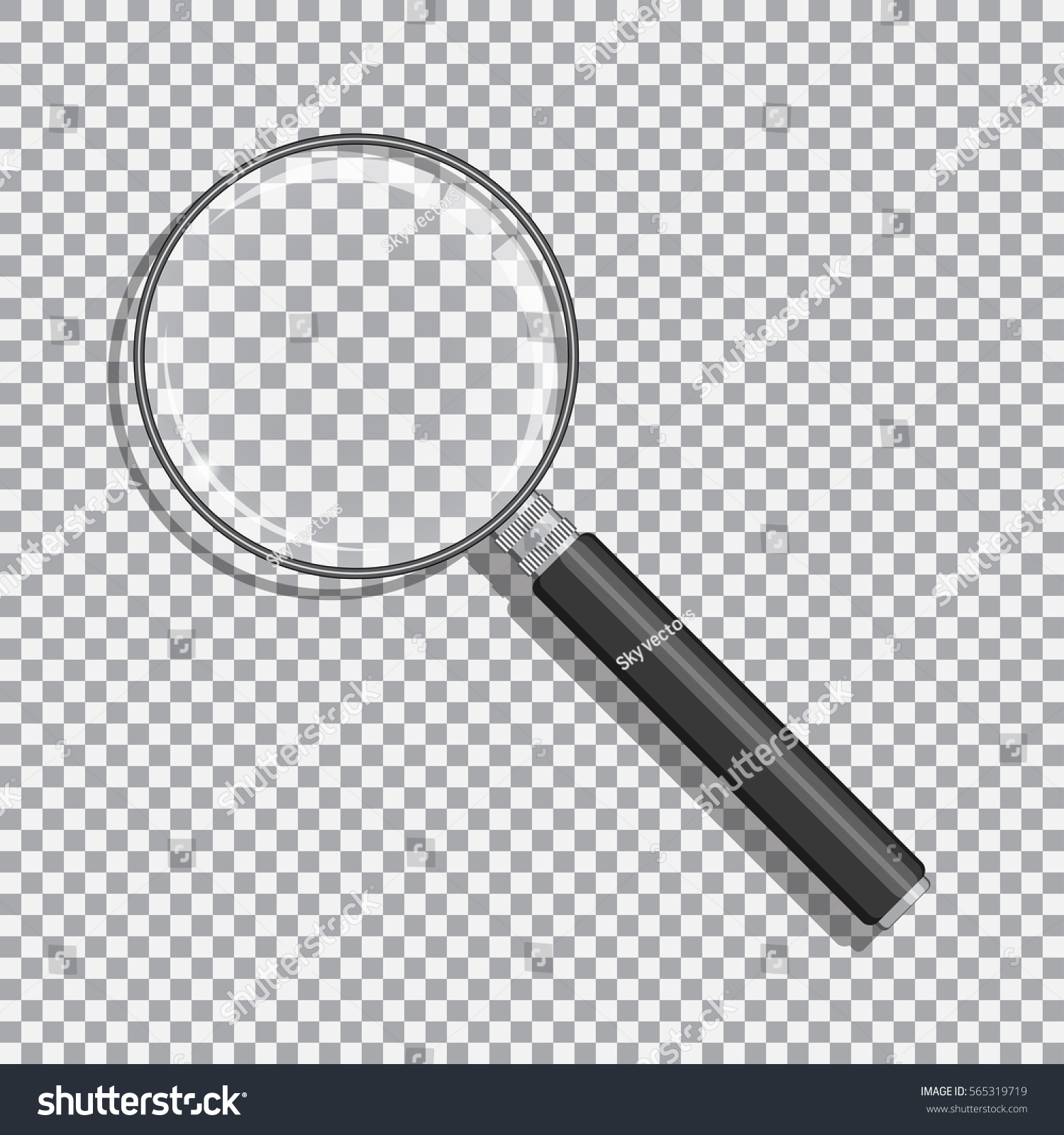 Background image transparency - Realistic Magnifying Glass With Transparency Black Handle And Opacity Background