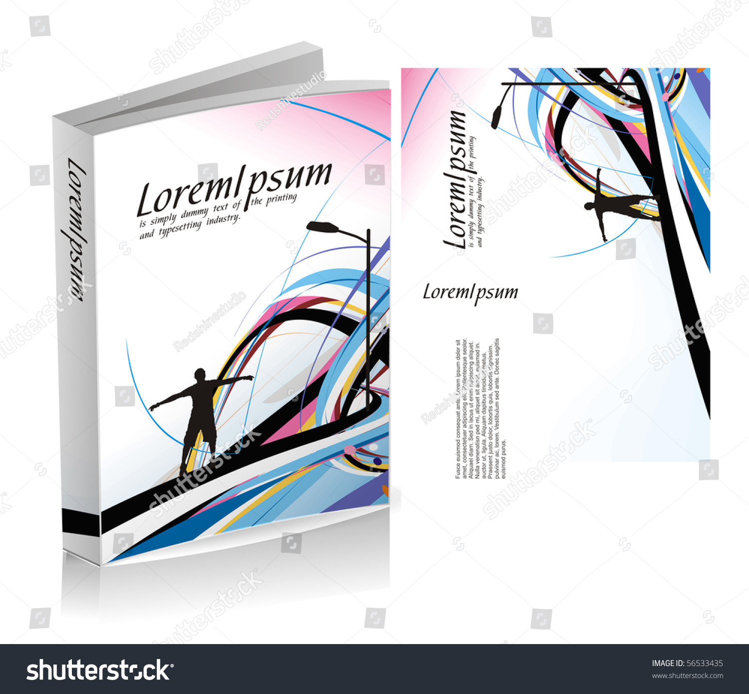 Book Cover Design Isolated Over Colorful Background : Book cover design isolated over colorful background stock