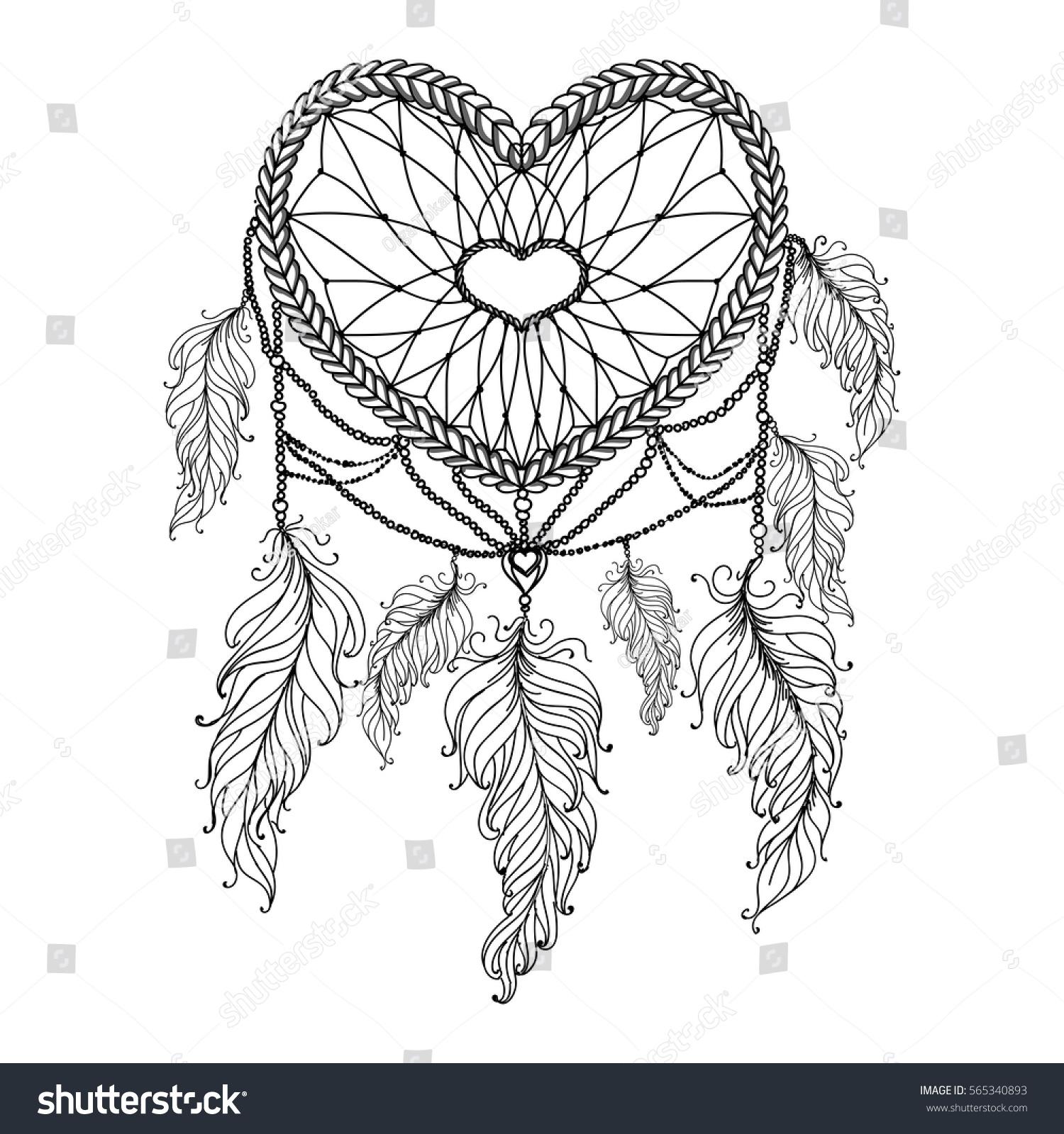 Dream Catcher Native American Indian Traditional Dream Catch ER Heart Shape