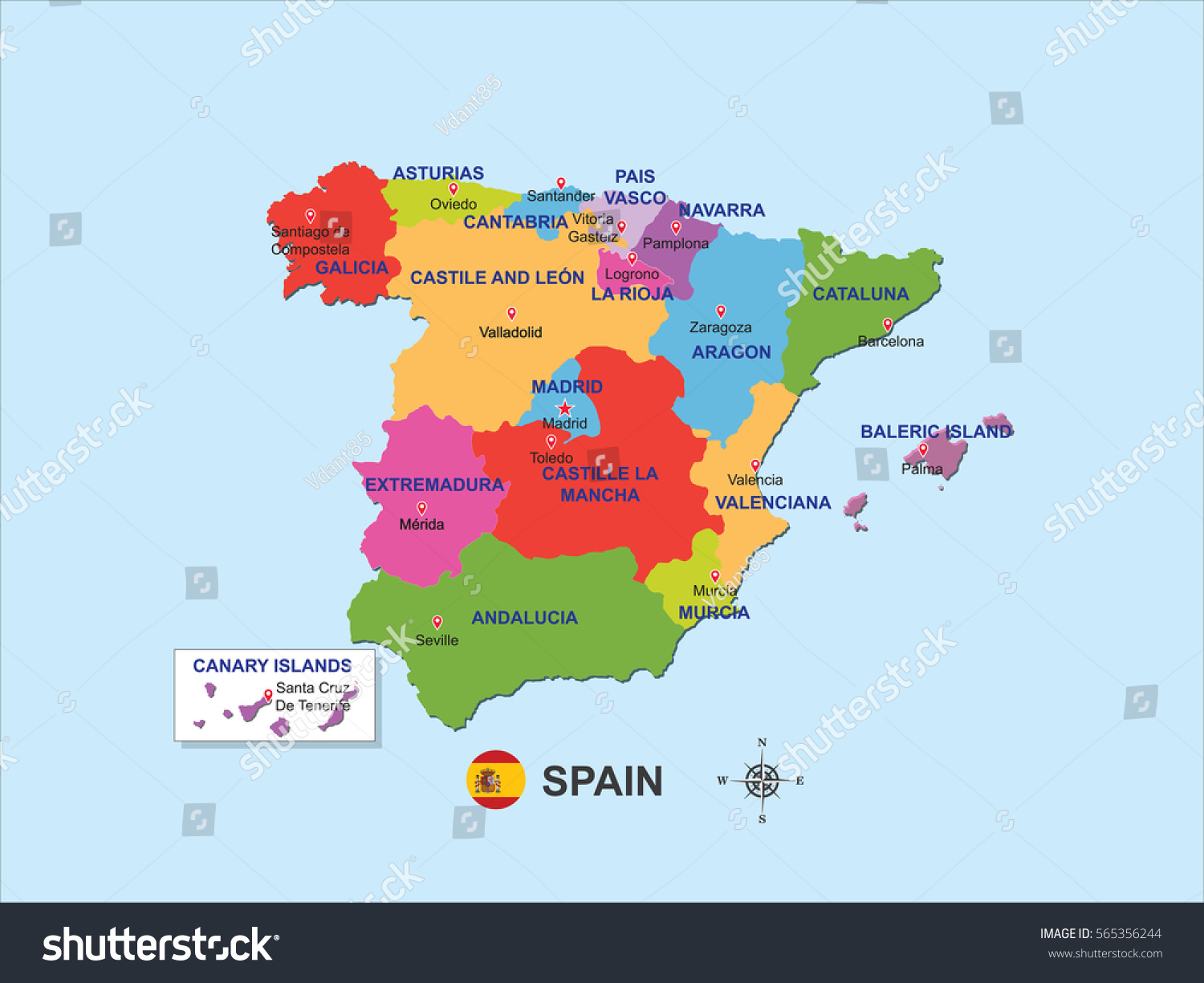 santander spain map santander maps spain maps of santander