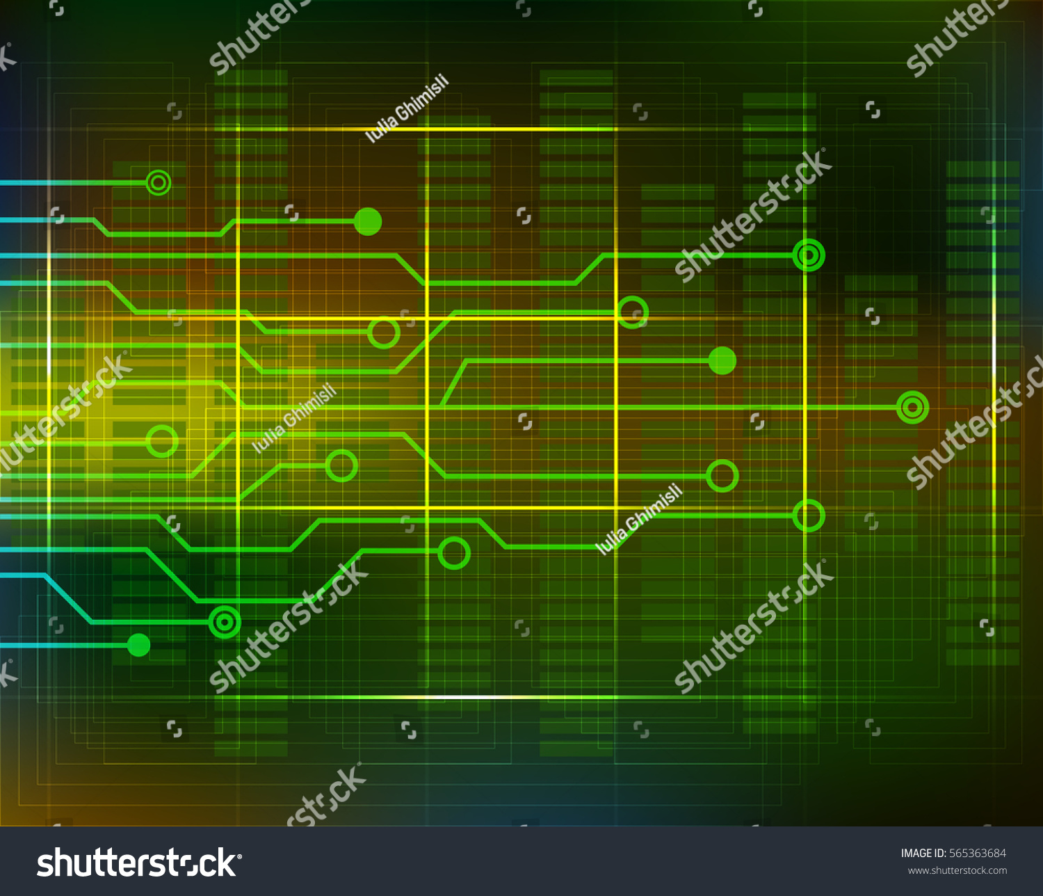 Computer Electronic Scheme Technology Background Circuit Stock ...