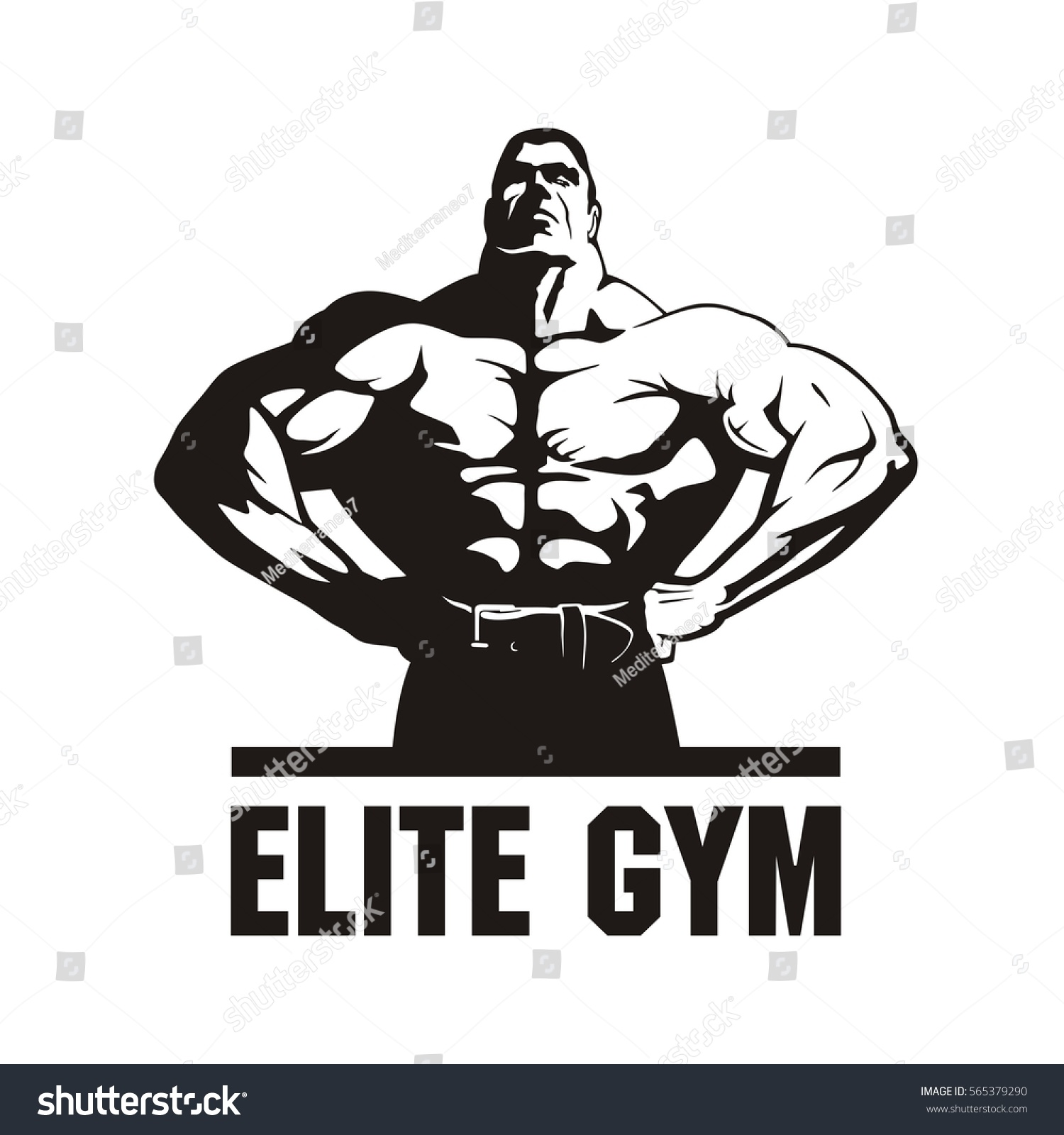 Gym Logo Vector Fitness Club Logo Stock Vector 565379290 - Shutterstock