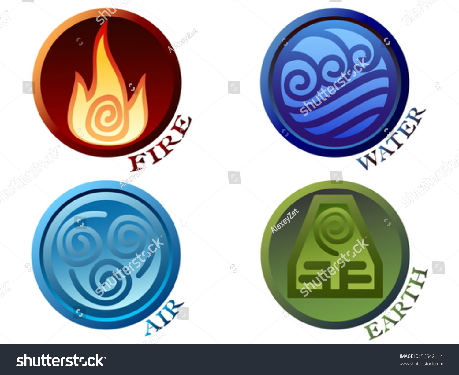 Vector illustration ancient symbols four elements stock vector vector illustration ancient symbols of four elements with subscribe buycottarizona