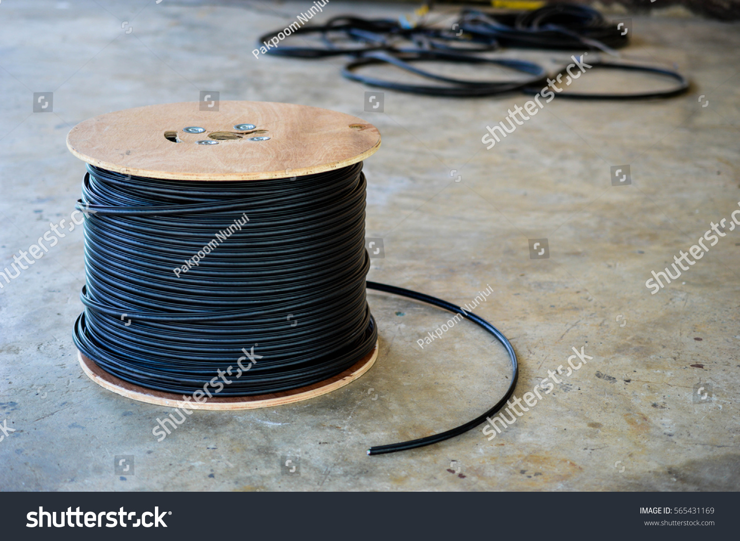 Spools Of Copper Electrical Wire Office Visio For Mac Mile 14gauge Galvanized Electric Fence Wire317774a The Home Depot Black Cable Coil Spool Stock Photo Royalty Free In 565431169
