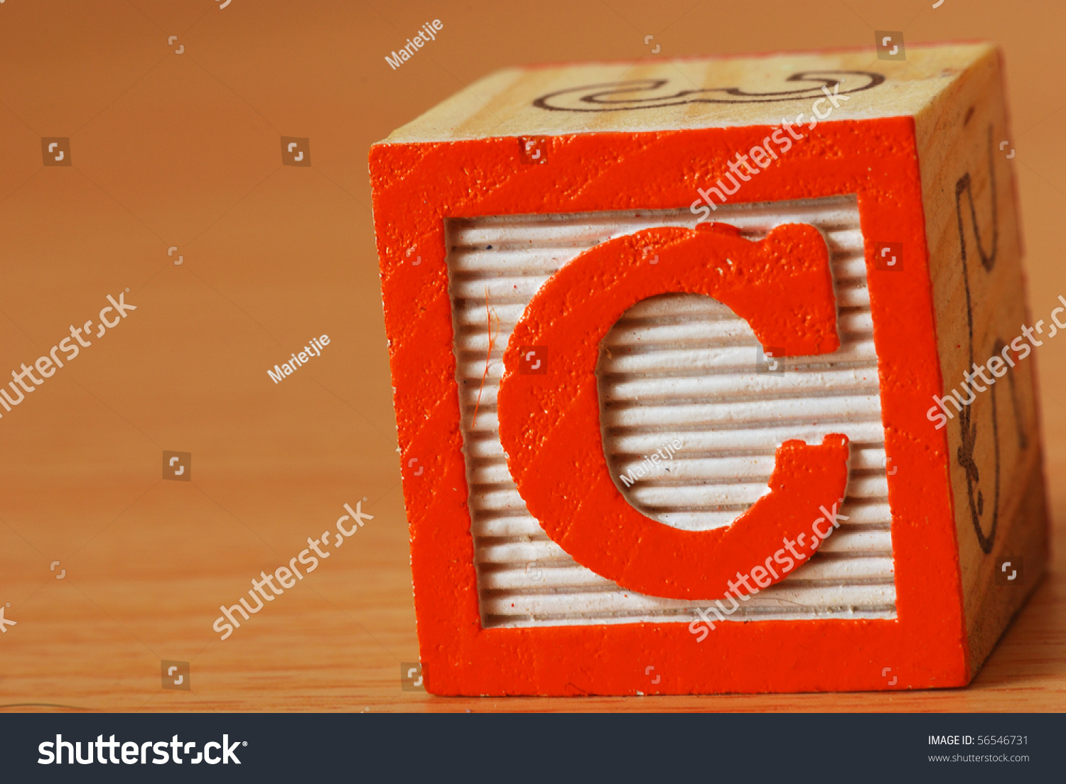 Alphabet Block Letter C Stock Photo Royalty Free