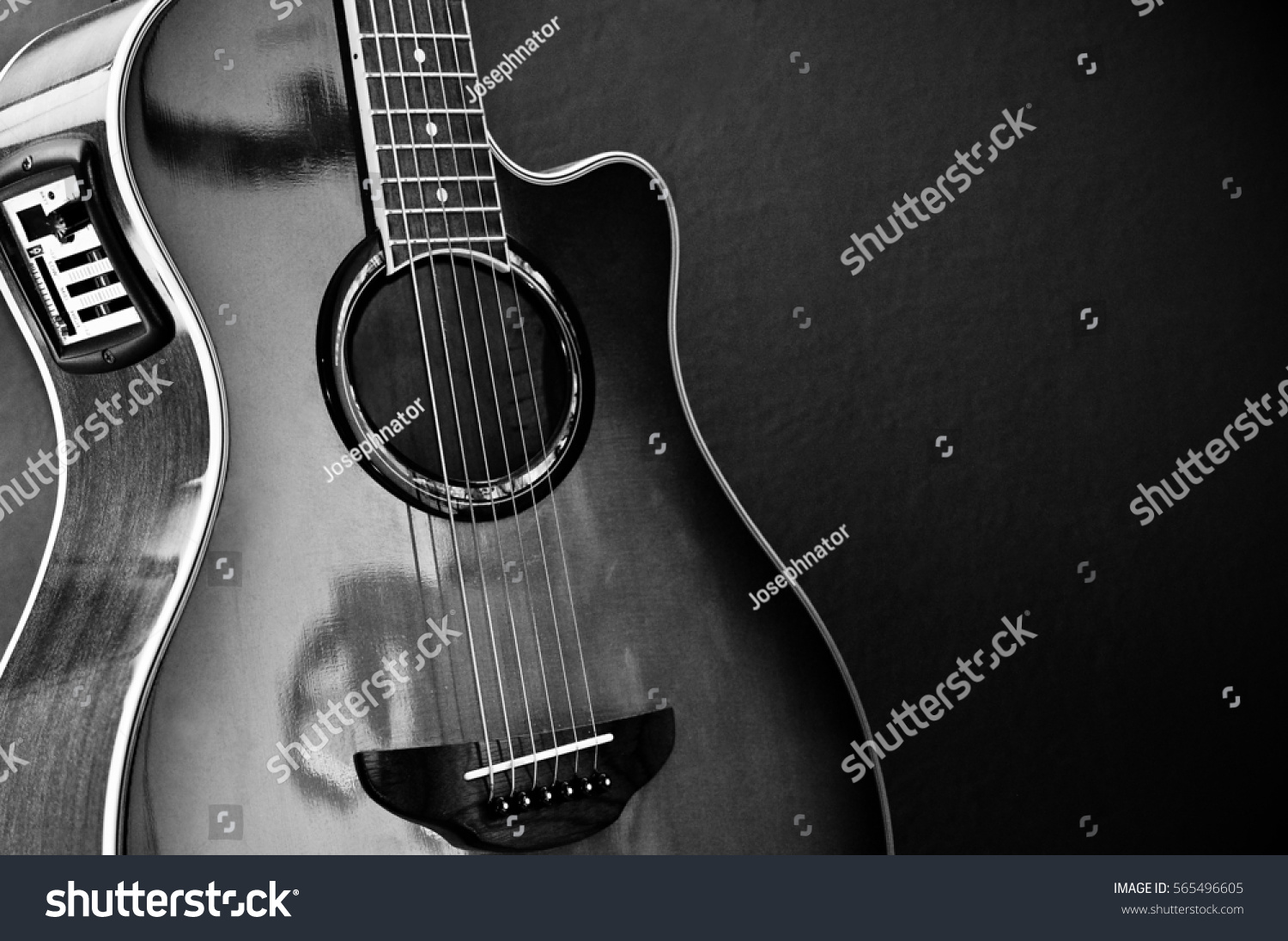 Beautiful Acoustic Guitar Equalizer Color Black Stock Photo Edit