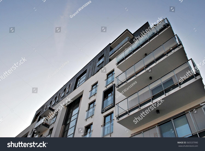 modern apartment building facade. Facade of a modern apartment building Modern Apartment Building Stock Photo 565537990  Shutterstock