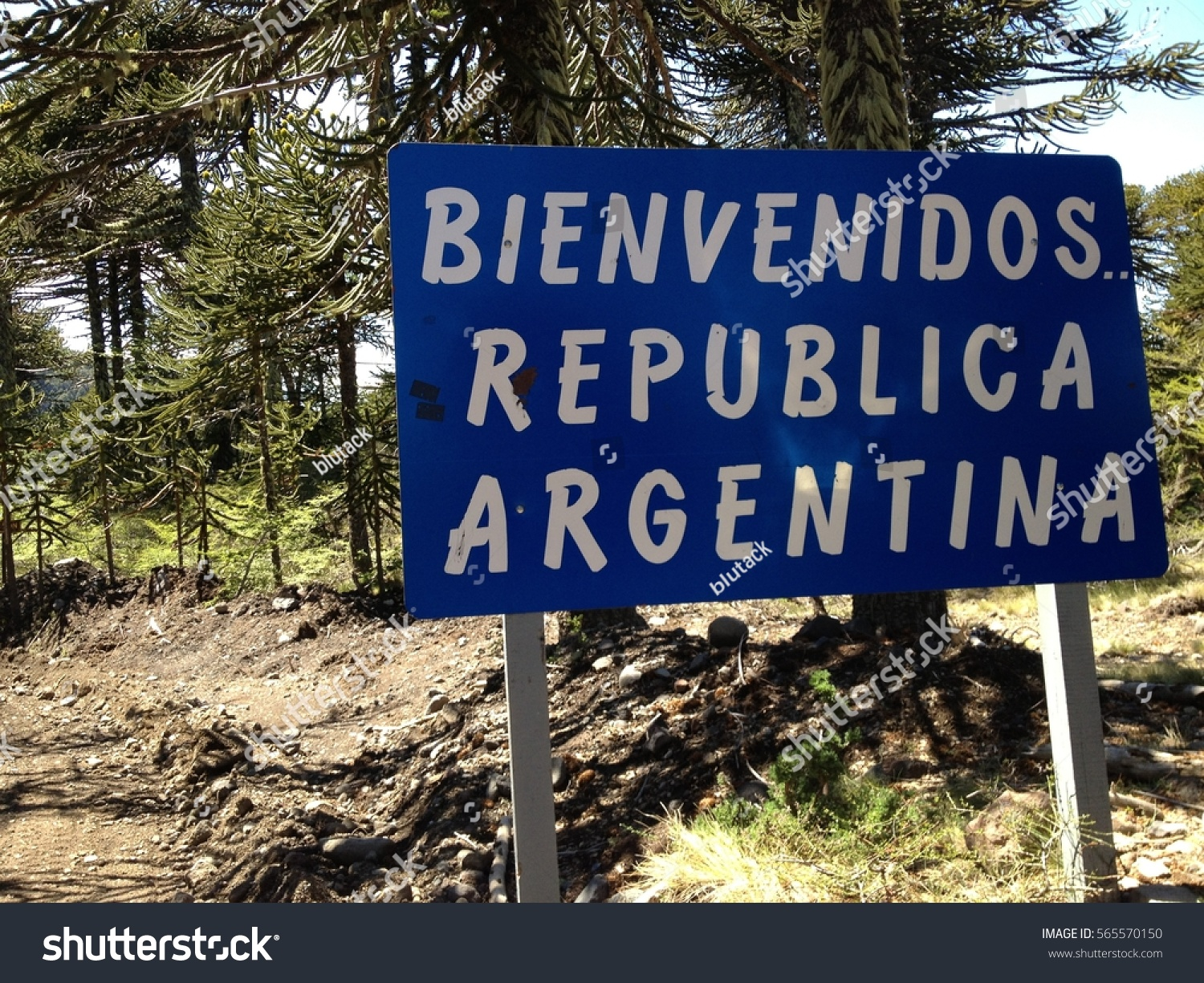 Mine Fields Along The Chile And Argentina Border In Patagonia Ez