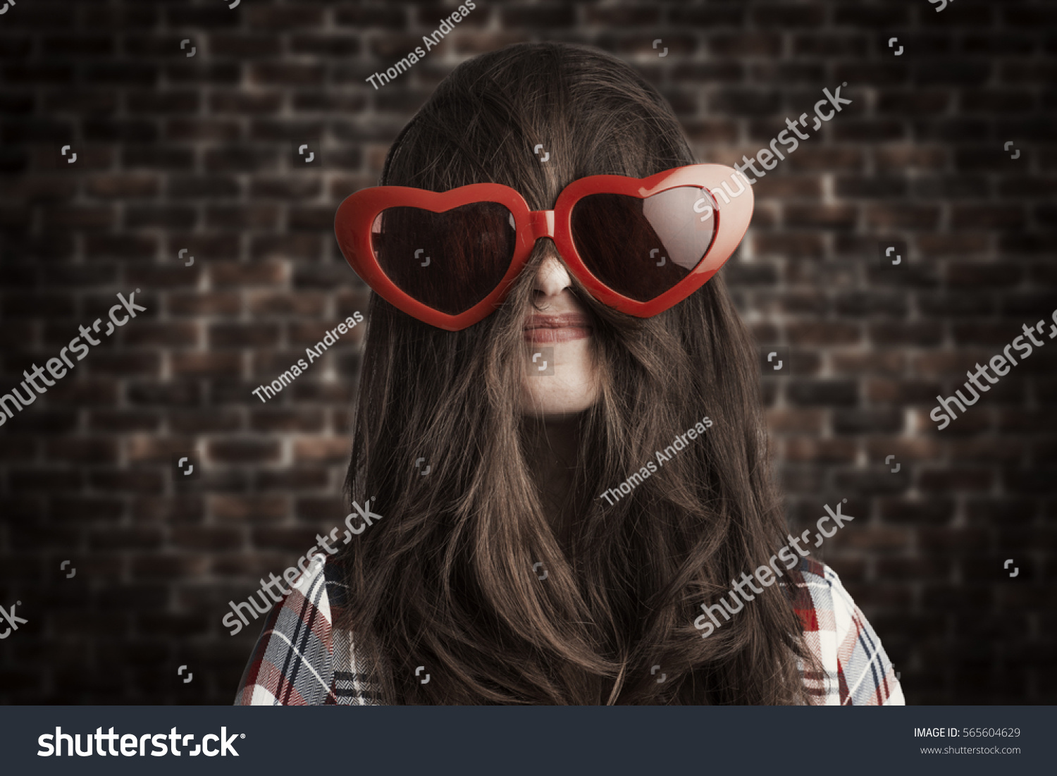 f2066069d65e8 Funny Love Concept Woman Wearing Extra Stock Photo (Edit Now ...