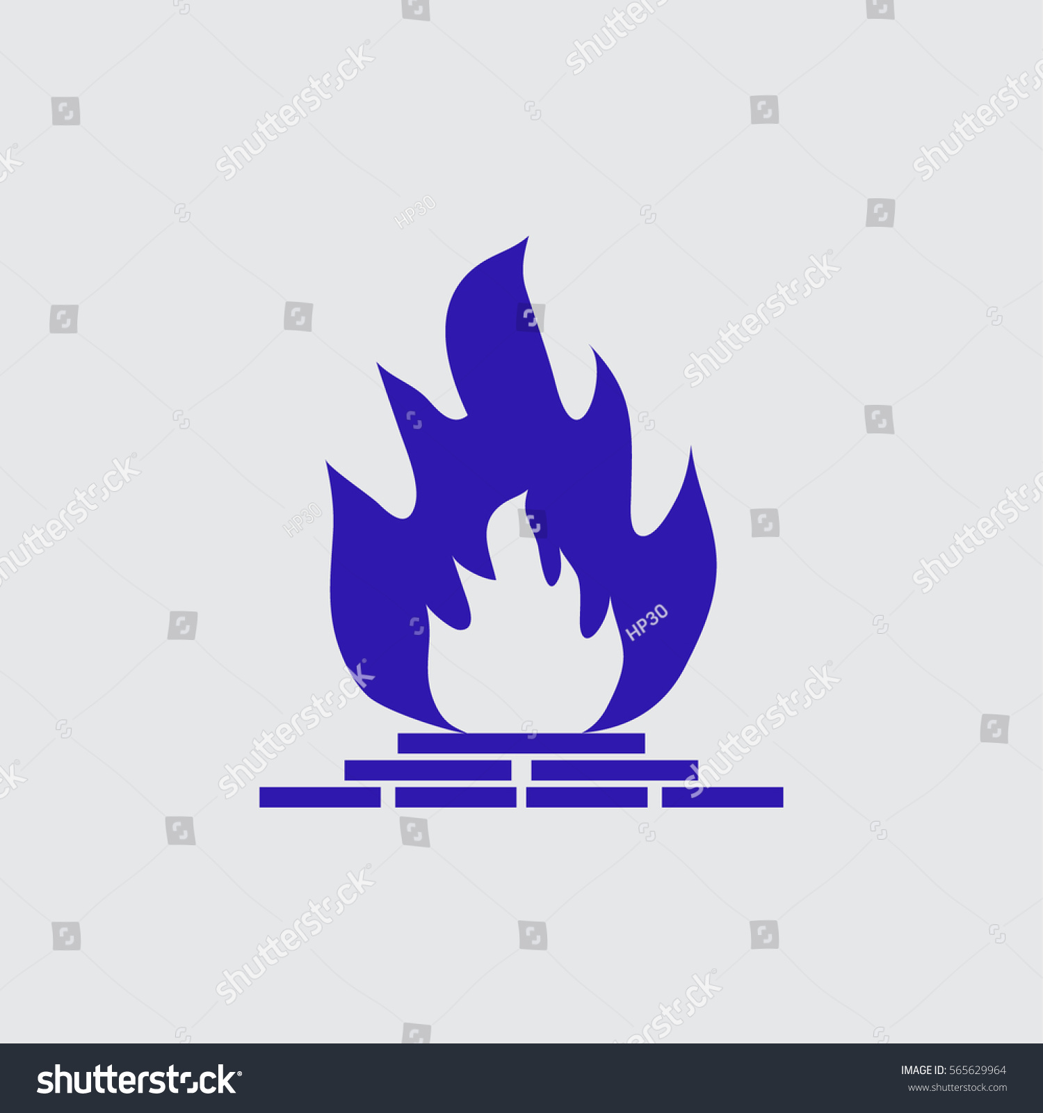 fireplace icon stock vector 565629964 shutterstock