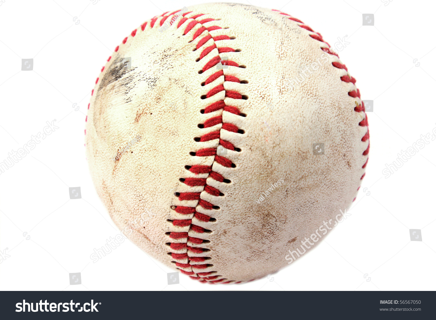 Closeup of dirty baseball #56567050