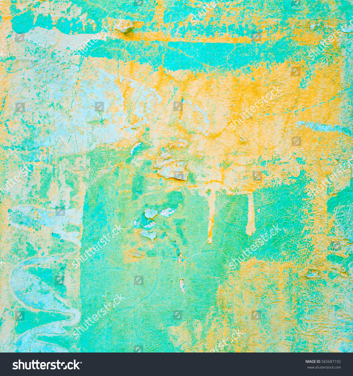 abstract colorful wall isolated as a background and texture. Grunge ...