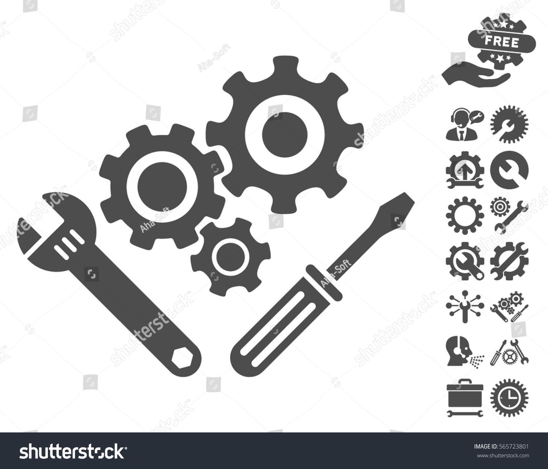 Mechanics Tools Icon Bonus Configuration Symbols Stock Vector ...