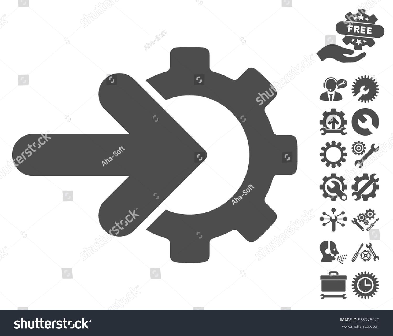 Gear Integration Icon Bonus Options Symbols Stock Vector (Royalty ...