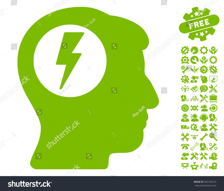 Brain electric shock icon bonus service stock vector 565735210 brain electric shock icon with bonus service symbols vector illustration style is flat iconic eco buycottarizona Images