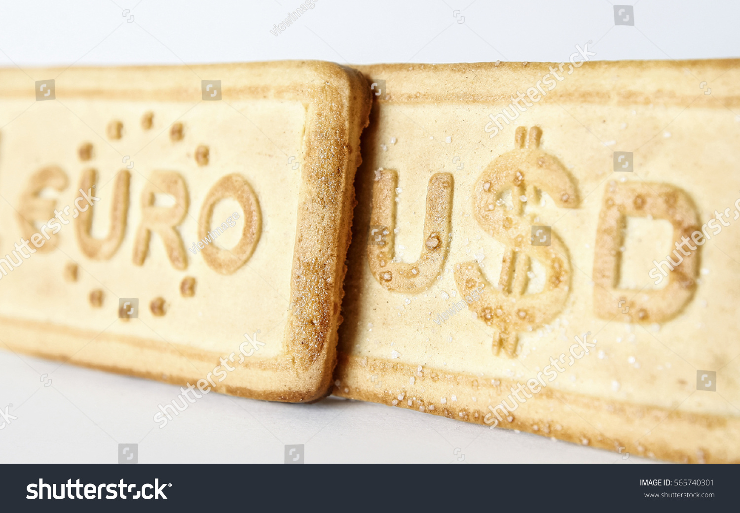 Eurodollar currency symbols exchange rate pastry stock photo euro dollar currency symbols exchange rate pastry close up on white background biocorpaavc
