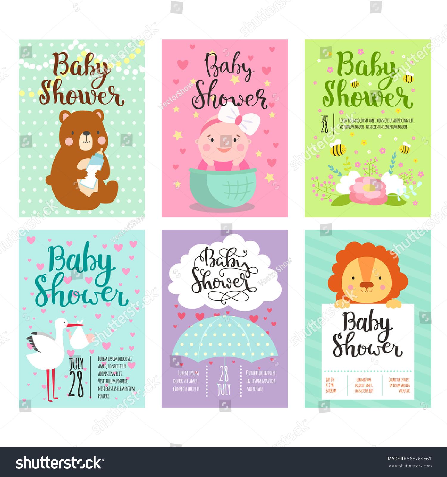 Baby shower invitation vector card kids stock vector 565764661 baby shower invitation vector card kids party new born celebration baby invitation cute adorable stopboris Choice Image