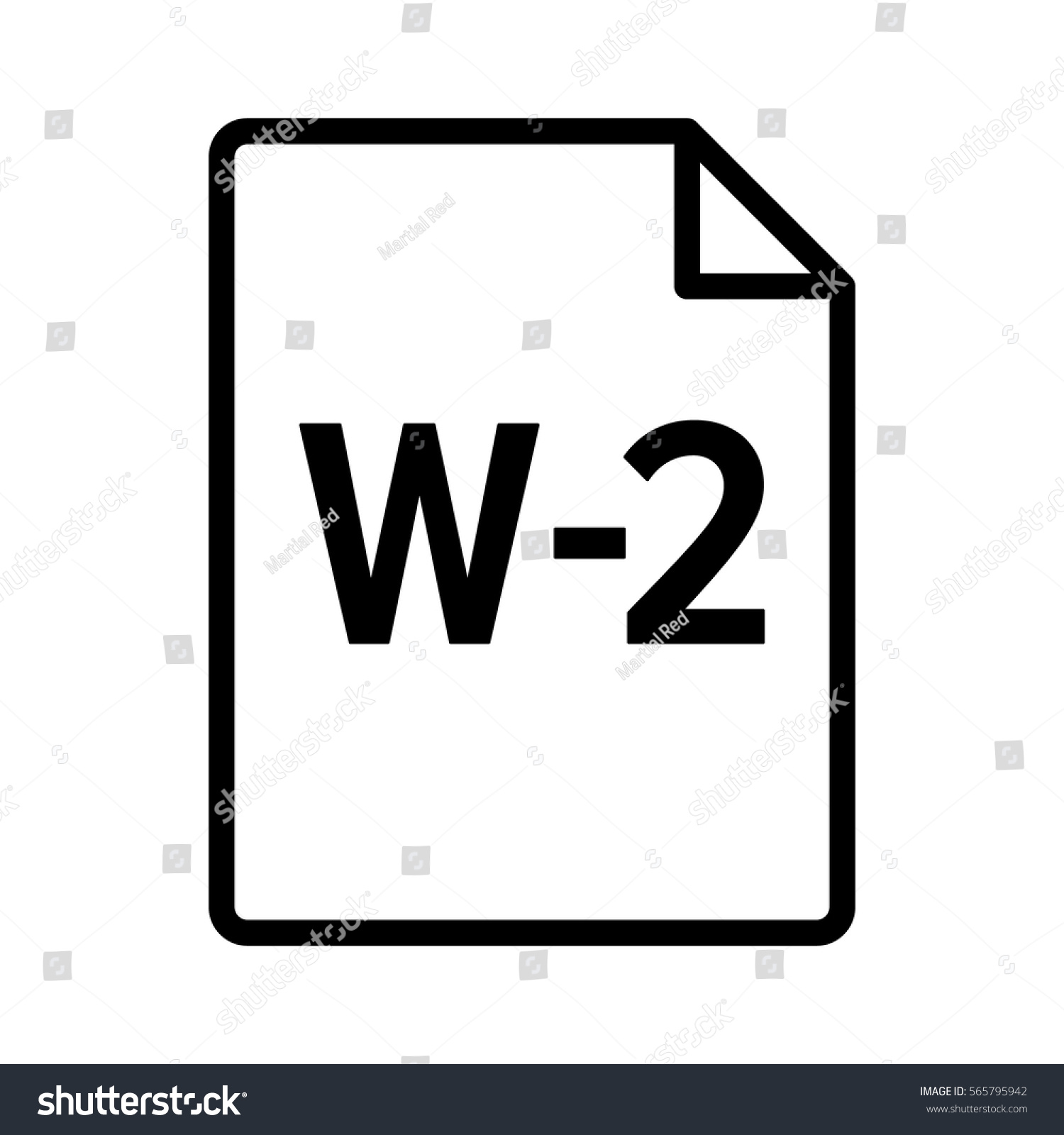 W 2 W 2 IRS Tax Form Document Stock Vector (Royalty Free) 565795942 ...