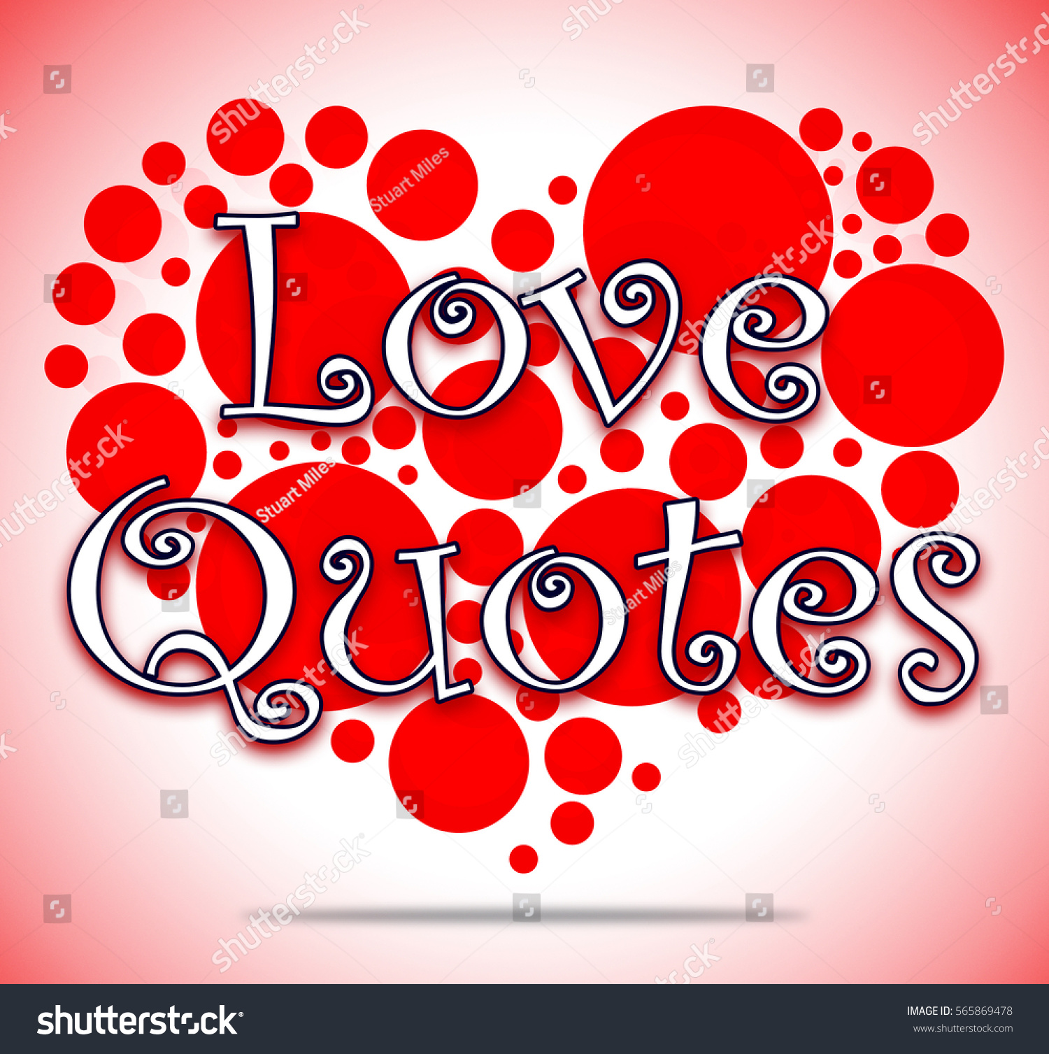 Inspiration Love Quotes Love Quotes Heart Circles Shows Loving Stock Illustration