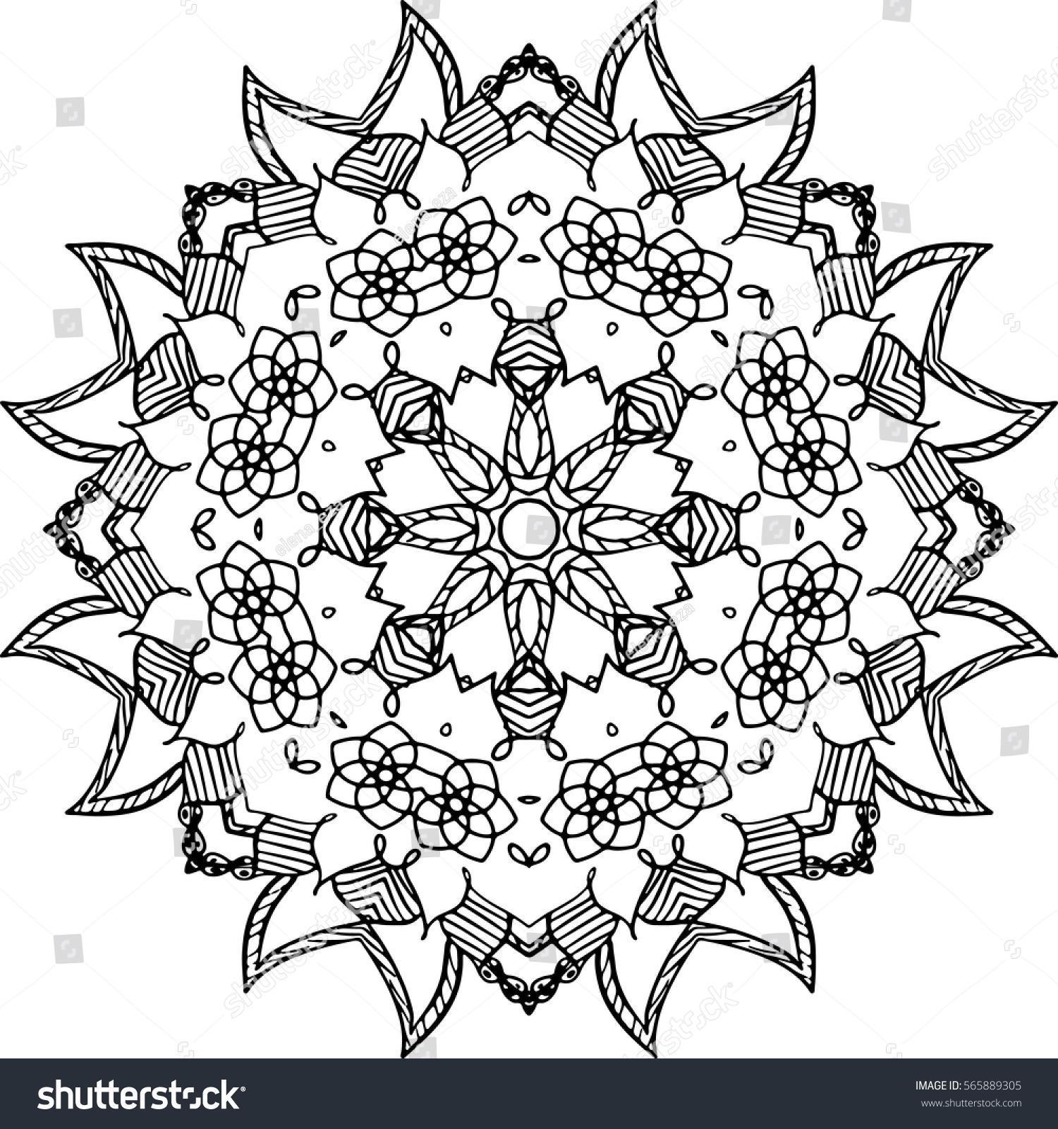 mandala illustration backgrounds coloring books pattern stock