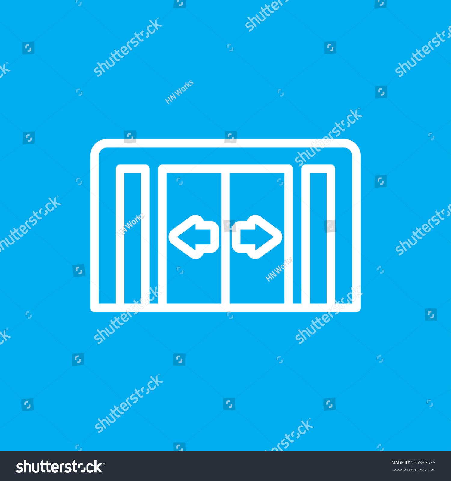 Sliding Doors Icon Illustration Isolated Vector Stock Vector