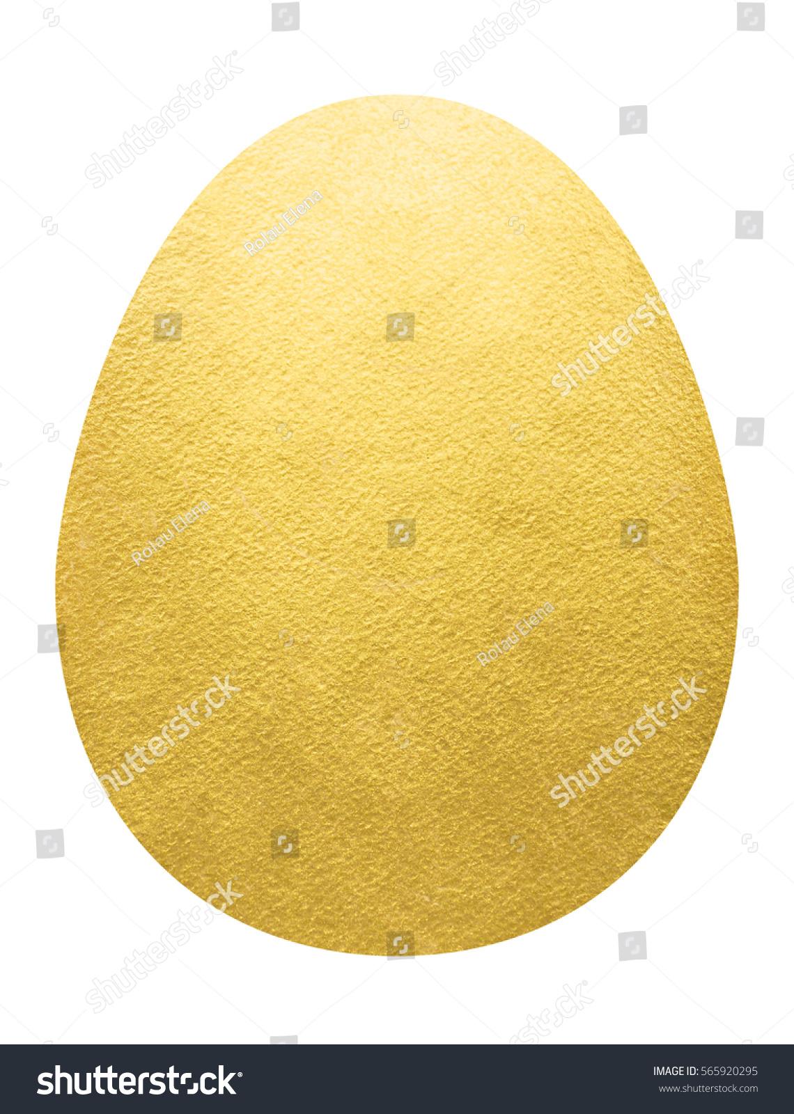 Big Golden Egg Shape Isolated On Stock Illustration 565920295