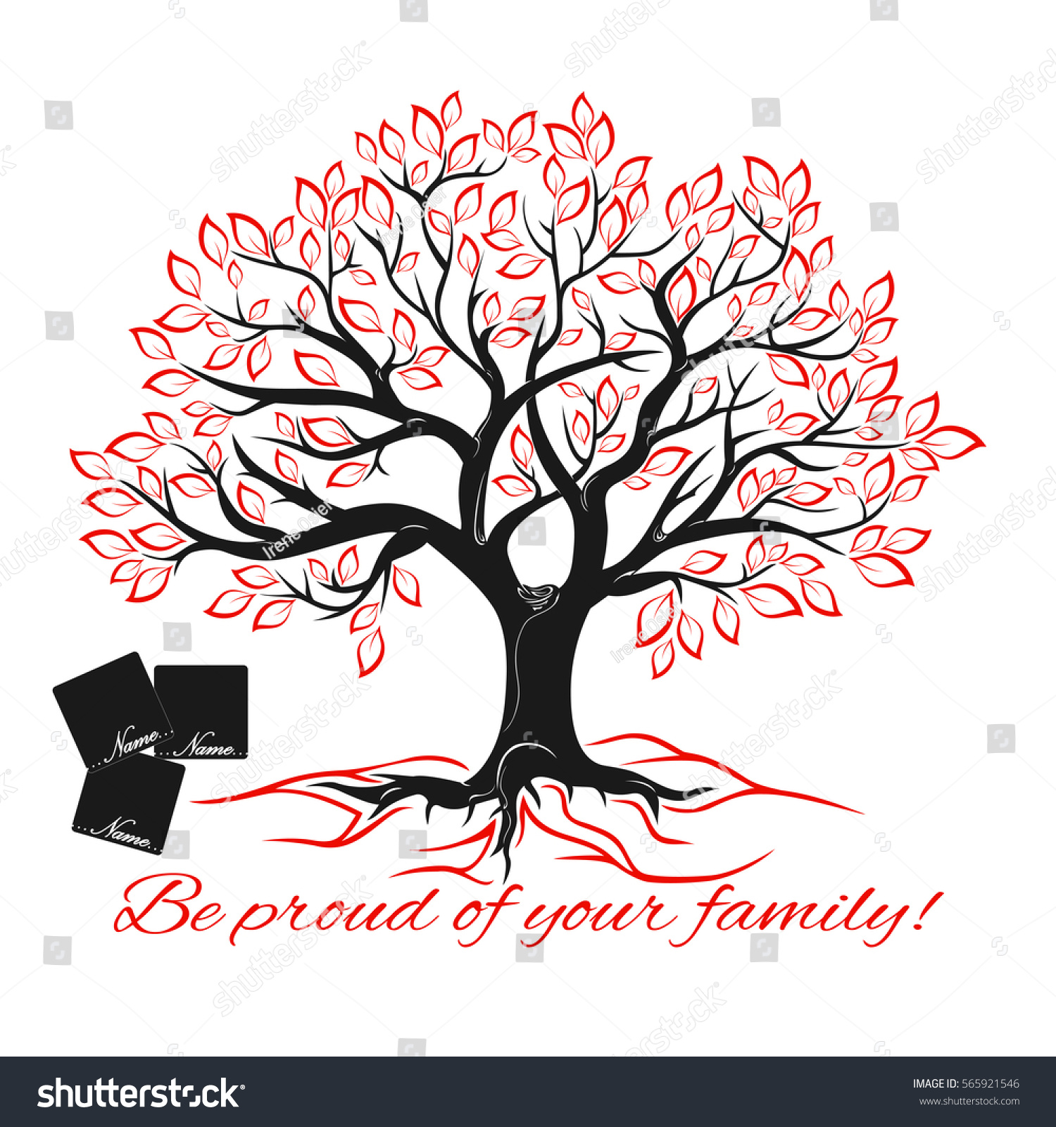 Genealogical Tree Concept Family Tree Template Stock