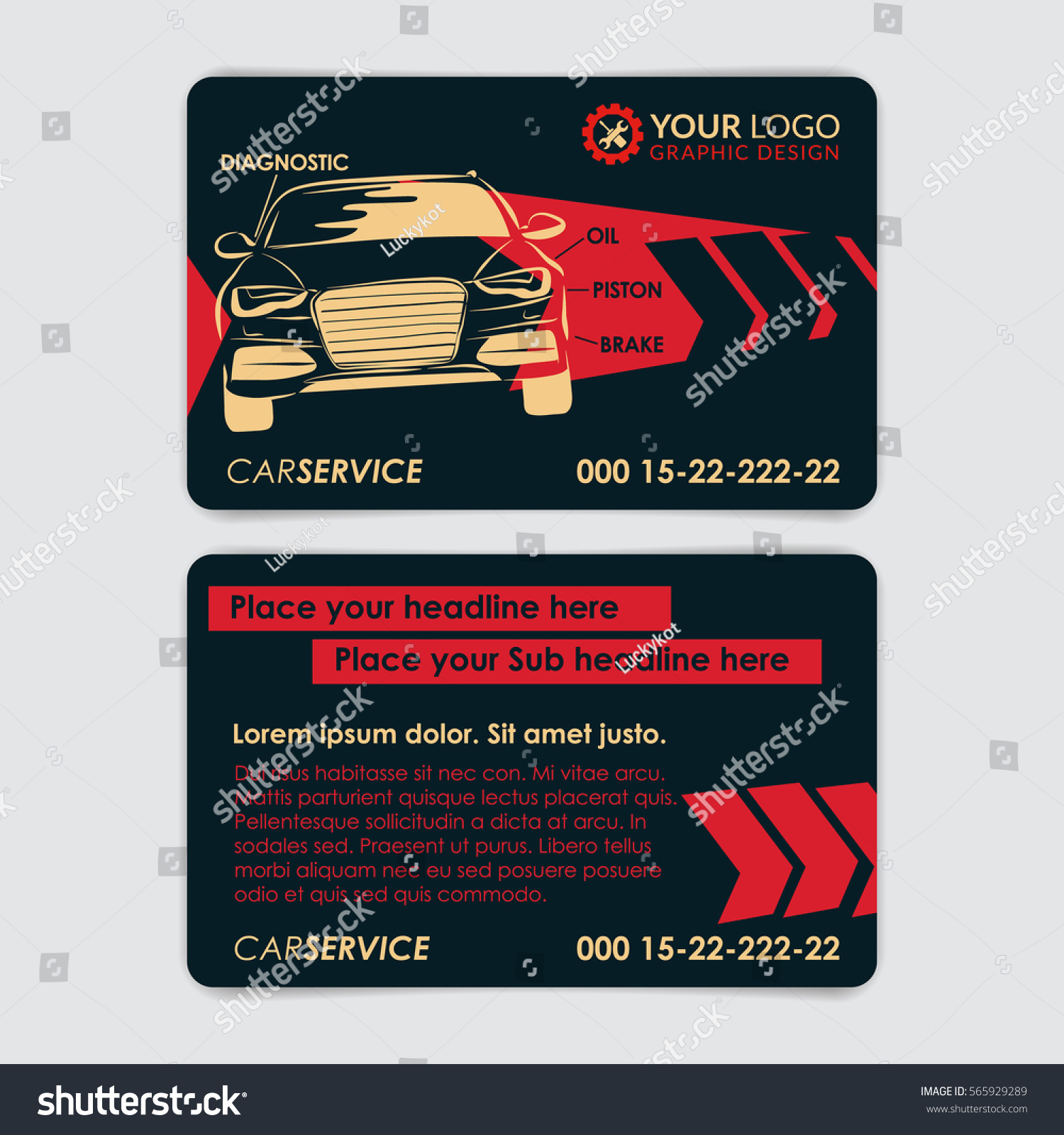 Auto repair business card template create stock vector hd royalty auto repair business card template create your own business cards mockup vector illustration cheaphphosting Images