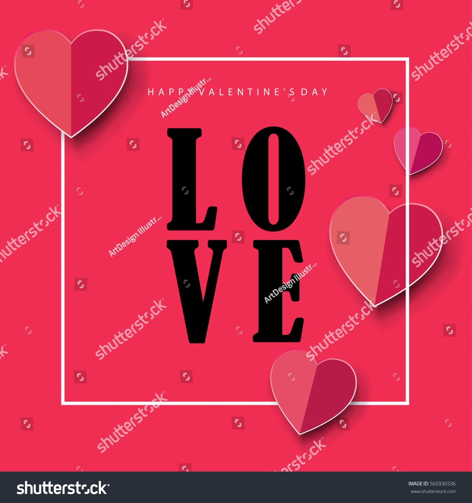 Happy Valentines Day Greeting Card Vector Vector 565930336 – Happy Valentines E Card