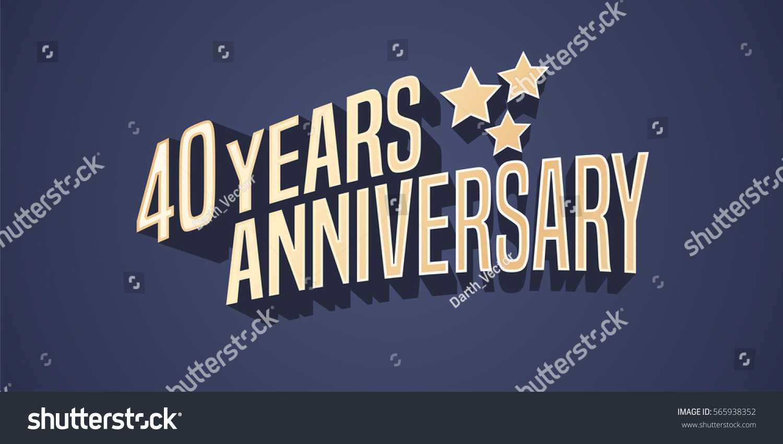 Years anniversary vector icon logo stock vector
