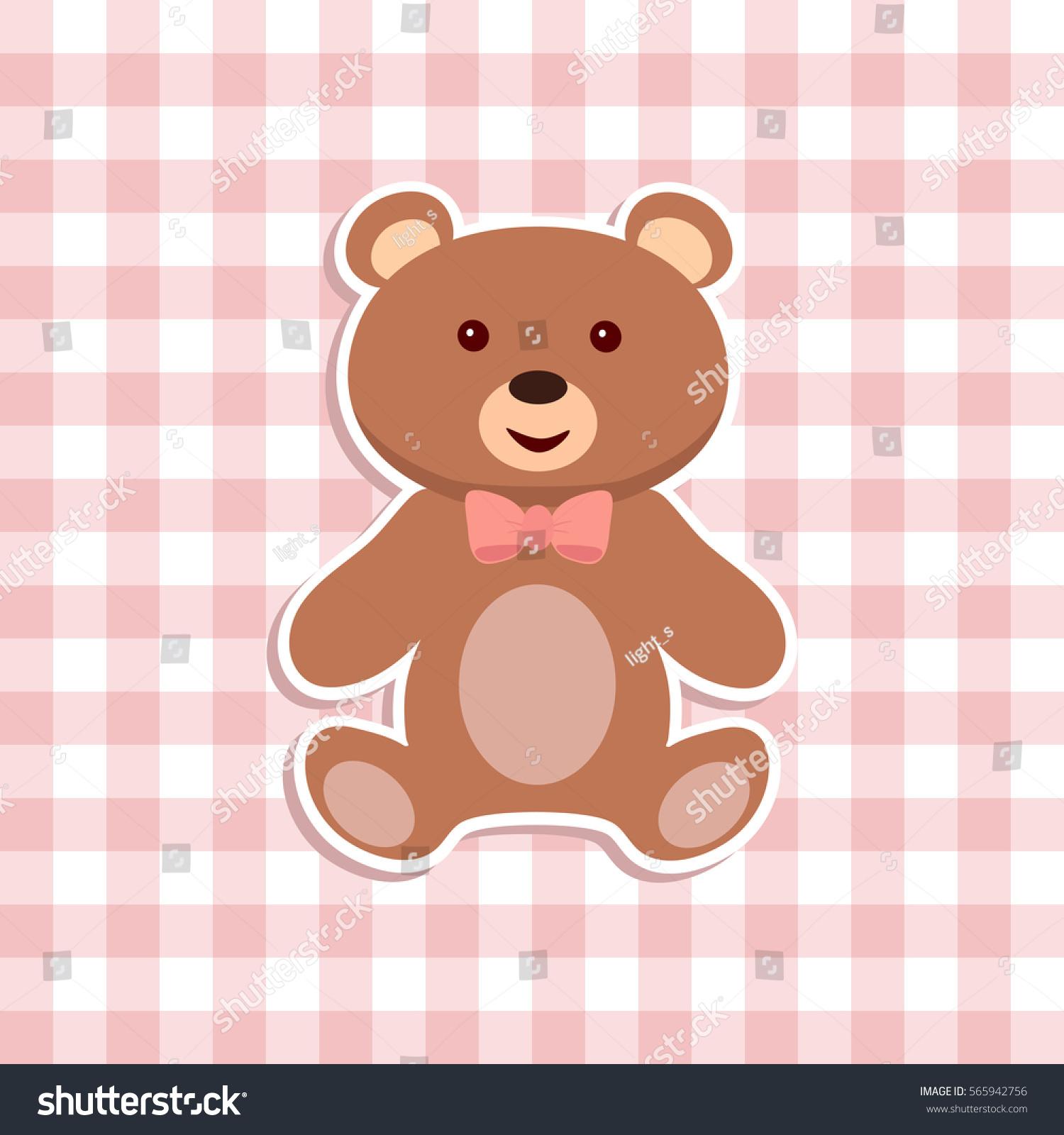 teddy bear toy sticker flat icon stock vector 565942756 shutterstock