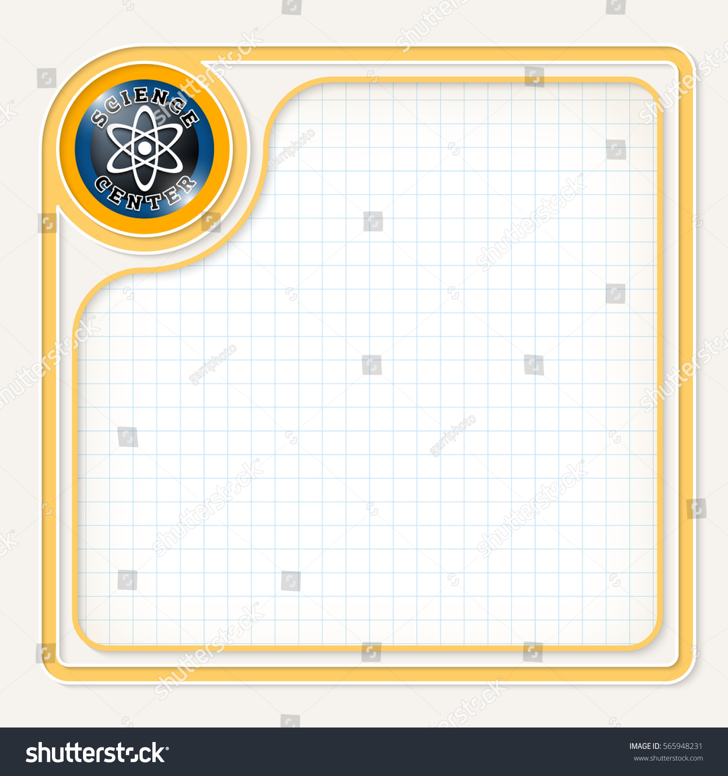 yellow text frame your text graph stock vector 2018 565948231