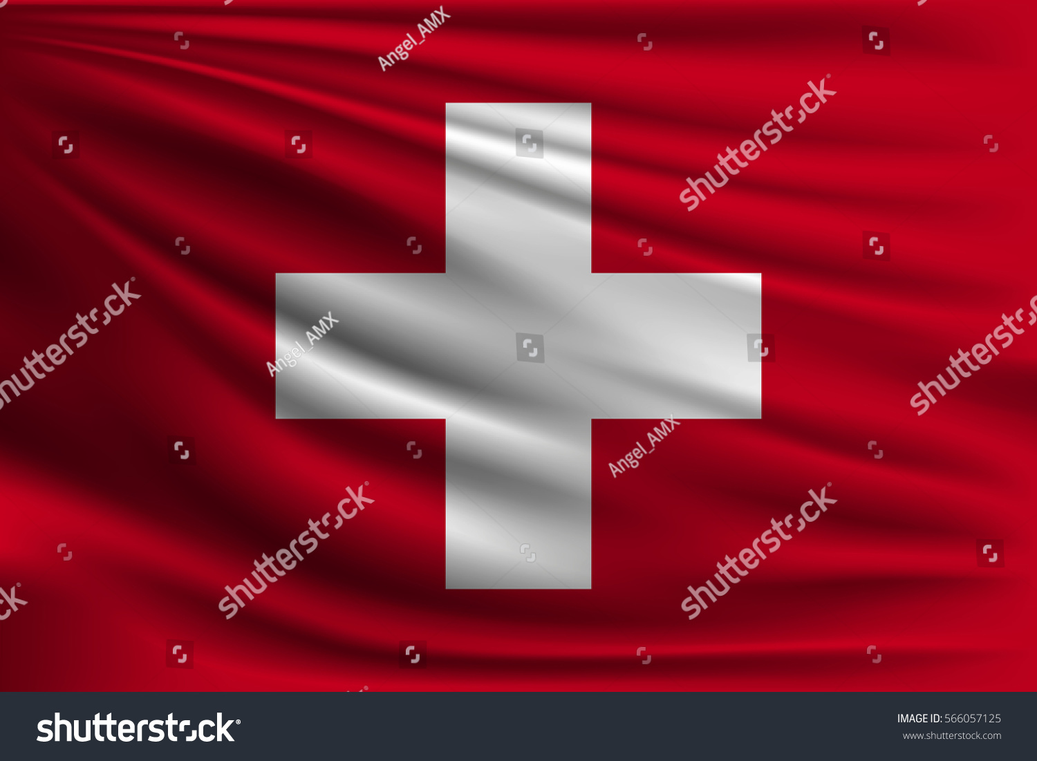 national flag switzerland symbol state on stock vector 566057125