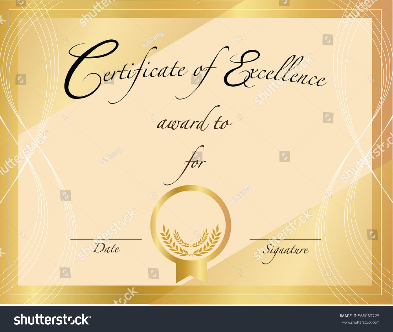 Graphic Design Editable Your Design Award Stock Vector Royalty Free