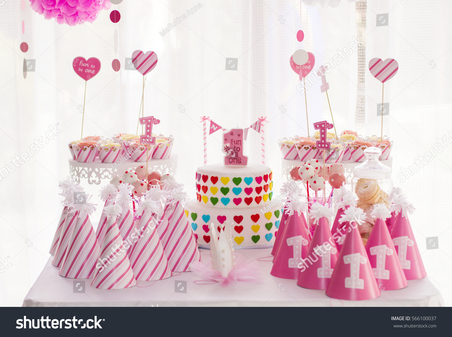 table decoration candy bar stock photo 566100037 shutterstock. Black Bedroom Furniture Sets. Home Design Ideas