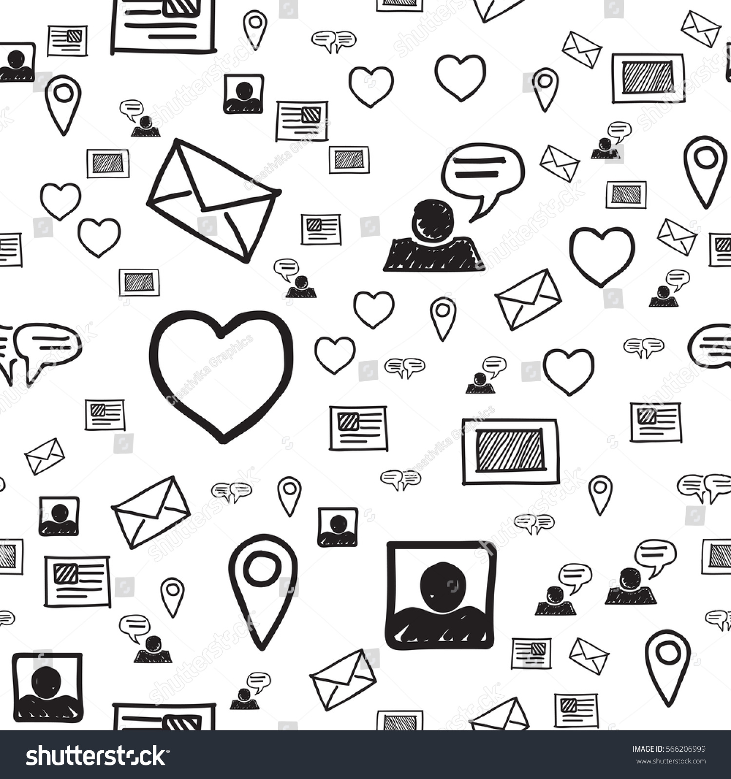 Smart Phone Hearts Love Sms Communications Stock Vector Royalty