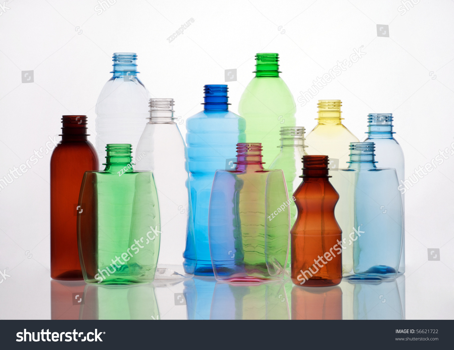Group empty transparent plastic bottles stock photo for What to do with empty plastic bottles